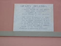 Villa di Grazia Deledda - lapide