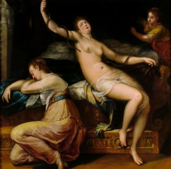 L'eterno e il tempo tra Michelangelo e Caravaggio, morte di Cleopatra