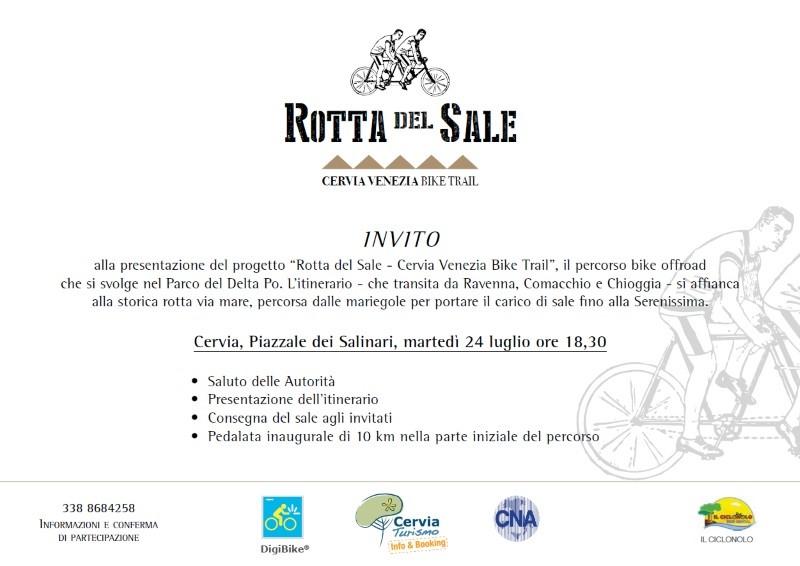 Cervia Venezia bike trail - invito 24 luglio 2018