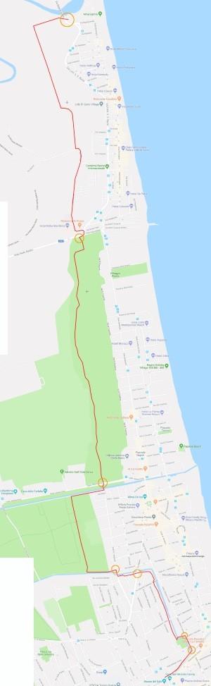 Cervia Venezia bike trail - percorso