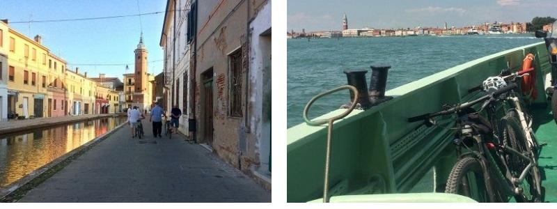 rotta del Sale bike Trail, Chioggia e traghetto