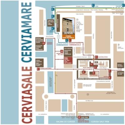 Cervia Sale, Cervia Mare - mappa banner