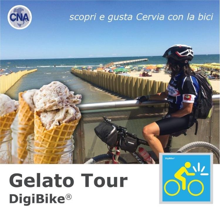 DigiBike Cervia Tasting Tour 2018, gelato
