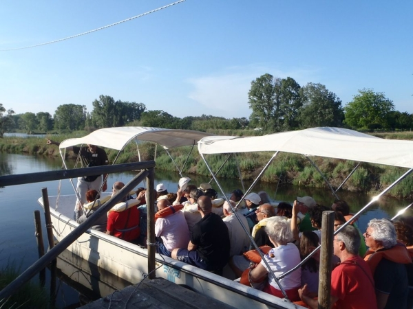 Salina in barca, percorso naturalistico - 600x450