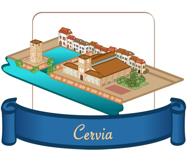 Cervia, canale e borgo marina