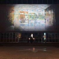 Le immagini del nuovo Parco Urbano di Milano Marittima proiettate all'ingresso della pineta