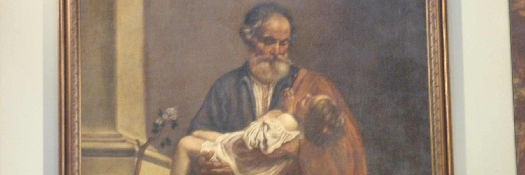 Dipinto di San Giuseppe con il Bambino