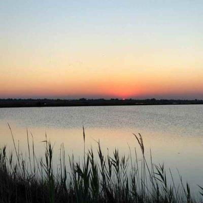 Aperitivo in salina al tramonto